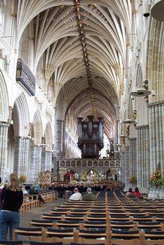 Inside Exeter Cathedral, Devon