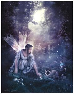 Luna Light of Fae Fairy Illustration Art by GingerKellyStudio, $17.50