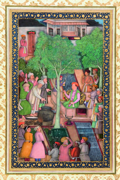 Jahangir with Holy Men in a Garden