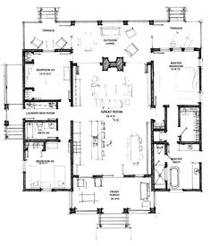 Modern Dogtrot - House Floor Plan