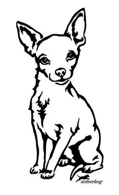 Chihuahua Care - 5 Important Issues Every Owner Should Know - Dog Pets Zone Chihuahua Drawing, Chihuahua Tattoo, Chihuahua Art, Animal Drawings, Art Drawings, Dog Stencil, Stencils, Doodle Drawing, Wood Burning Patterns