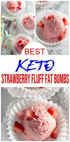 {Easy Fat Bombs} Keto fat bomb you will love! Keto strawberry fat bombs to die for. Quick simple 5 ingredient low carb fat bombs you will want to make. Great keto snacks recipe too. Quick Easy Desserts, Keto Dessert Easy, Low Carb Desserts, Low Carb Recipes, Quick Recipes, Simple Snacks, Atkins Desserts, Ketogenic Desserts, Ketogenic Diet