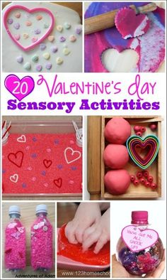 Valentine'S day activities for kids - mess for less Valentine Sensory, Valentines Day Activities, Valentines For Kids, Sensory Activities, Craft Activities For Kids, Valentine Day Crafts, Crafts For Kids, Sensory Play, Autism Sensory