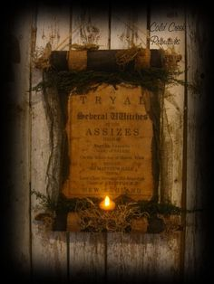 Hey, I found this really awesome Etsy listing at https://www.etsy.com/listing/198339392/primitive-witchs-trial-scroll-halloween