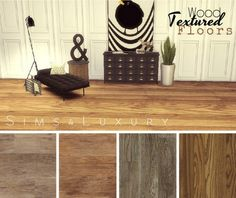 Sims4Luxury: Wood textured floors set 1 • Sims 4 Downloads