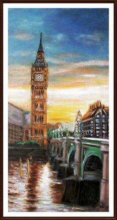 "Oil on canvas  "" London """