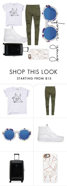 """Untitled #94"" by april-diamond ❤ liked on Polyvore featuring Vans, Victorinox Swiss Army and Casetify"