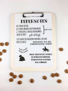 Handlettering Pepernoten recept. Gratis Printable