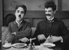 Charlie Chaplin and Albert Austin in The Immigrant 1917 - Mutual