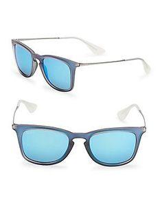 Ray-Ban Square Sunglasses - Blue - Size No Size