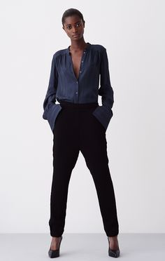 Coolest blouse from Rodebjer - goes well with the suit pants