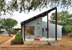 Set in a secluded and rugged south central Texas landscape, Walkabout is a residence and workspace for a couple seeking a slower wilder and untamed life. A