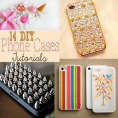 14 DIY Phone Cases Tutorial #diy #tutorial #phone #case
