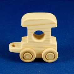 Wood Toy Train 3 Car Set Natural Wooden Toys by nwwoodcrafters