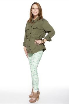 Glitterary Girl  www.glitterarygirl.blogspot.com  #pastels #floraljeans #JoeFresh #Americaneagleoutfitters #militarystyle #forever21 #aldo #wiwt #ootd #canadianblogger #FreshStyle