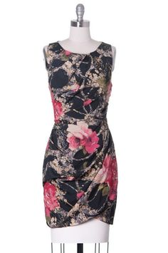 The Last of the Winter Roses, Asos, Modcloth Style, Floral, Cocktail, Black #ModclothStyle #Sheath #Cocktail