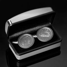 Irish coin cufflinks - Lucky Irish Salmon of Knowledge - Rare Irish gift - 100% satisfaction