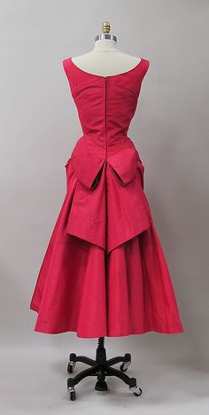 ~Cocktail dress Charles James (American, born Great Britain, 1906–1978) Manufacturer: (sample made for) Samuel Winston Date: 1952–53 Culture: American. Back~