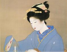 上村松園 Syouen Uemura『灯』(1937)