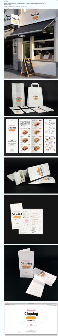 #imagen #corporativa #logotipo Hopdog y publicidad de comida rápida Codefrisko