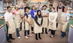 Great British Bake Off contestants (left to right) Alvin, Ugne, Paul, Dorret, Marie, Ian, Nadiya, Stu, Tamal, Flora, Mat and Sandy.