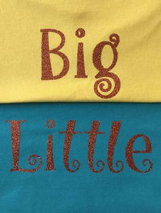 diy curly glitter iron on diy big little shirt by colormeuncommon