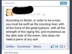 When someone pointed out this genius list of male requirements: