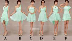 mint bridesmaid dresses cheap bridesmaid dress short by okbridal, $99.99