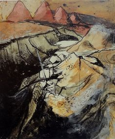 Artwork by Graham Sutherland, Study: opencast coal mining, Made of Ink, crayon, gouache on paper John Minton, Coal Mining, Magazine Art, Art Market, Gouache, Impressionist, Art Forms, Graham, It Cast