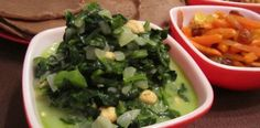 Mchicha: A Tanzanian Dish. Spinach, Coconut and Peanuts.