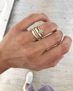 Patterson Maker Miller — janepopejewelry: i love a stack of different bands. Cute Jewelry, Jewelry Accessories, Jewelry Design, Necklace Designs, Ring Designs, Diamond Stacking Rings, Jeweled Shoes, Minimalist Jewelry, Mode Inspiration