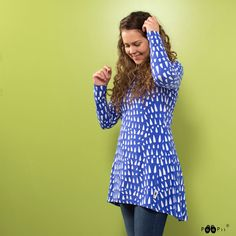 Women's organic cotton clothes made in Finland Print Design, Organic Cotton, Tunic Tops, Finland, Blue, Clothes, Landscape, Fashion, Tunic