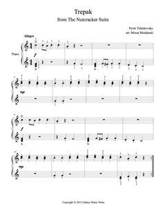 Trepak [The Nutcracker] | Very easy piano sheet music