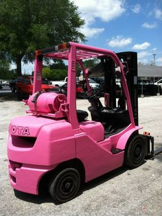 Construction equipment going Pink for Breast Cancer Awareness month!