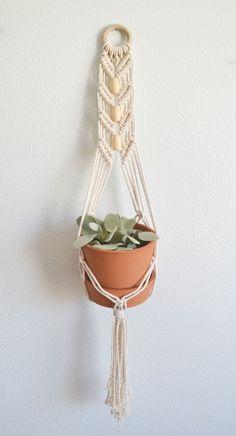 Macrame Plant Hanger via KnotOnomy .
