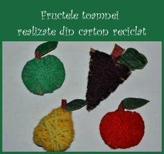 fructele toamnei realizate din carton recilat