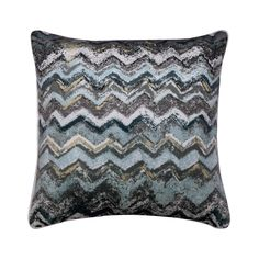 """Decorative Pillow Cover 16""""x16"""", Satin Throw Pillow Cover Blue Shaded Cushion Cover Abstract Pattern Modern Home Decor Pillow- Sea Sand Surf"""