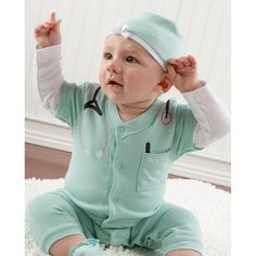Pin for Later: Forget the Costume, and Try One of These Halloween Onesies For Baby! The Doctor Is In!