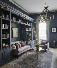 English Home Library Inspiration : Colossal to Cosy - Scene Therapy wohnen Home Library Rooms, Home Library Design, Home Libraries, Home Office Design, House Design, Home Study Design, Home Library Decor, Library Bedroom, Library Study Room
