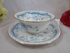 Very Rare 1890s Pointons English Bone China Blue by SecondWindShop, $75.00