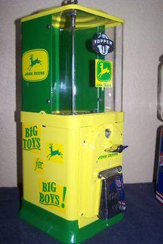 "Vintage ""John Deere"" Oak Acorn Gumball Machine.. Want for my kitchen"