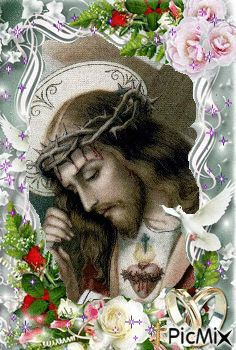 Sacred Heart of Jesus Jesus And Mary Pictures, Pictures Of Jesus Christ, Christian Drawings, Christian Images, Beautiful Flowers Wallpapers, Beautiful Nature Wallpaper, Good Morning Friends Images, Precious Jesus, Jesus Photo