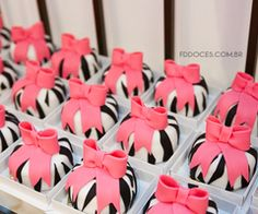 Zebra Print and Pink Bows :)