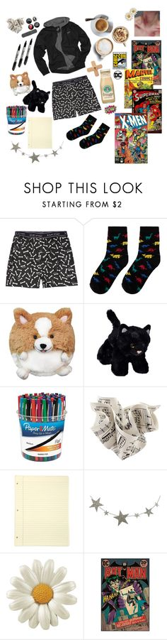"""""""Untitled #8"""" by gerardwaykitten ❤ liked on Polyvore featuring Blue Crown, Corgi, Paper Mate, Addison, Caffé and Retrò"""