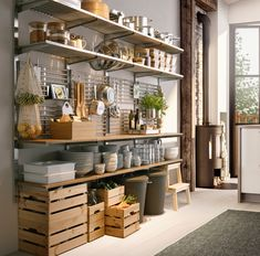 Ikea Kitchen Storage, Kitchen Nook, Wall Storage, Kitchen Organization, Ikea Storage Solutions, Storage Ideas, Ikea Usa, American Kitchen, Painting Kitchen Cabinets