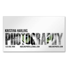 Photography Cutout - White Business Card Template. Make your own business card with this great design. All you need is to add your info to this template. Click the image to try it out!