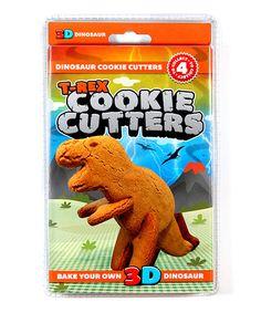 Look at this #zulilyfind! T-Rex Cookie Cutter Set #zulilyfinds