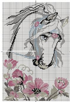 Discover thousands of images about Horse, free cross stitch patterns and charts - www. Cross Stitch Horse, Beaded Cross Stitch, Cross Stitch Animals, Cross Stitch Flowers, Cross Stitch Charts, Counted Cross Stitch Patterns, Cross Stitch Designs, Cross Stitch Embroidery, Beading Patterns