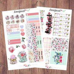 English Garden Flower planner stickers kit| erin condren planner stickers| happy planner stickers| planner sticker weekly kit, MK012
