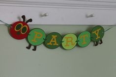 Very Hungry Caterpillar Banner. // for food table, etc.